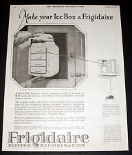 1925 OLD MAGAZINE PRINT AD, MAKE YOUR ICE BOX A FRIGIDAIRE, A SMALL INVESTMENT!