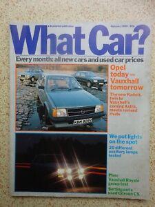 WHAT CAR? -  Magazine - February 1980 - Nostalgic Photos / Articles / Adverts.