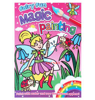 FAIRY FUN MAGIC PAINTING COLOURING BOOK KIDS GIRLS NO MESS JUST USE WATER