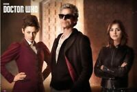 Jenna Coleman and Peter Capaldi UNSIGNED photo Doctor Who K9972