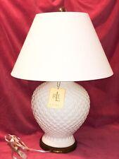 RALPH LAUREN PINEAPPLE PORCELAIN LARGE GINGER JAR TABLE LAMP w/ SHADE NEW