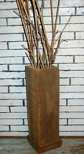 "20"" Reclaimed Barn Wood Vase Rustic Modern Country Urban Chic Farmhouse Accent"
