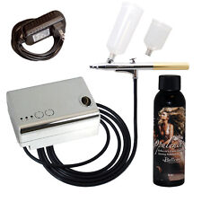 Belloccio SUNLESS TANNING AIRBRUSH SYSTEM Compressor Opulence DHA Tan Solution