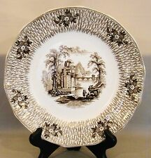 Antique Staffordshire Ironstone James Edwards Dale Hall Corinth Plate 9""