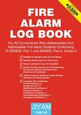 Fire Alarm Log Book FAB/16Z Syam Suitable for all Fire Systems A4 Size