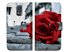Blooming Rose Wallet Case Cover For Samsung Galaxy S5 - A011