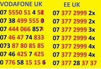 New GOLD VIP BUSINESS EASY MOBILE PHONE NUMBER SIM CARD Vodafone ee Lebara O2 88