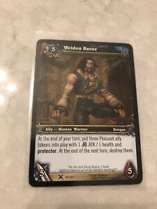 World of Warcraft WoW TCG - Weldon Baron Card - 151/268 Drums of War Unplayed