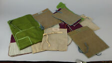 11 Detroit Jeweler Flatware Storage Bags JL Hudson Traub Brothers Hugh Connolly