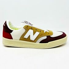 New Balance 300 White Brown Red Mens Size 8.5 Made in England CT300PFI