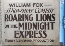 ROARING LIONS ON THE MIDNIGHT EXPRESS 1918 CGC GRADED LOBBY CARD SET OF 8