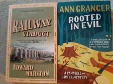 Pair new crime thriller books ann granger and Edward Marston railway viaduct