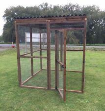 Covered Walk in Animal Run Enclosure 6ft Full Board 16g Dog Cat Chicken 0