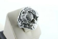 Dw Artisan Sterling Silver 925 Large Walrus Sea Lion Nugget Textured Ring Size 9