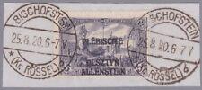 Allenstein Mi.Nr. 14 DD gestempelt mit Fotoattest Wasels