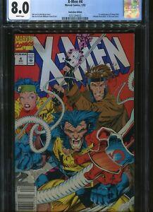 X-men#4 CGC 8.0 $1.50 price cover  Australian Price Variant  1st App Omega Red