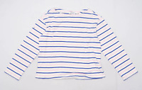 Paris Atelier Womens Size 12 Striped Cotton White Long Sleeve T-Shirt (Regular)