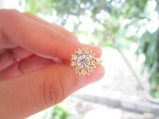 4.00 Carat Face Illusion Diamond Yellow Gold Ring 10k R98 sep