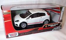 Fiat Grande Punto Abarth White Red stripe  new in box 1-24 scale model Motor Max