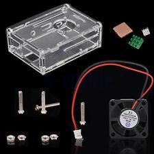 Acrílico Caja + Ventilador + 3Pc Radiador Para Raspberry Pi 3/2 modelo B/B+ BC