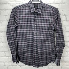 Hugo Boss Men's Slim-Fit Long-Sleeve Button Up Shirt Size Medium EUC