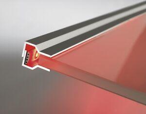 (39,11€/m) Glaskantenprofil 560mm / für LED Stripes Glasbodenbeleuchtung Profil