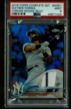 2018 Topps Chrome Rookie Relic Gleyber Torres Jersey Patch Refractor WSE-1 PSA 9