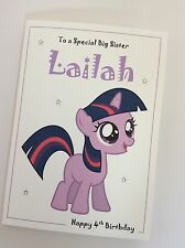 Personalised My Little Pony Sparkle Birthday Card: Daughter Sister Granddaughter