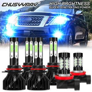For Nissan Armada 2011-2013 2014 2015 LED Headlight High Low Fog Light Bulbs