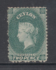 Ceylon SG 50bw MNG. 1864 2p Queen Victoria, watermark inverted, scarce