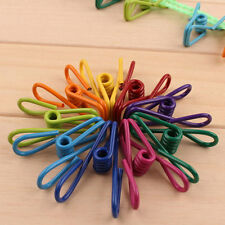 10 Pcs Multi-Purpose Metal Clips Holders Chip Bag Document Steel Wire Clips New.