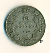 Canada 1919 - 50cents Coin ; Fine  ; CPF