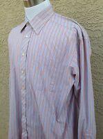 TED BAKER LONDON Archive Men's Dress Shirt SZ 17 1/2  36-37 Peach/Blue C66