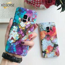 Luz Floral colorida Mármol Funda Cubierta para Samsung Galaxy S9 S8+ S7