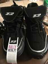 New Women's 3N2 Black White Rally Metal PT Fastpitch Softball Cleats Size 9