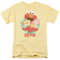 SESAME STREET FLOWERS FOR YOU ELMO Licensed Adult Men's Graphic Tee Shirt SM-3XL
