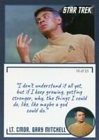 Star Trek TOS Archives & Inscriptions card 13 LT CMDR Gary Mitchell Var 16 of 23