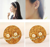 Hot Chic Women Jewelry Fashion Crystal Rhinestone Ear Stud Daisy Flower Earrings