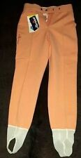 Vintage Ellesse Peach Insulated Stirrup Womans Pants Size 8 Fits for a Size 6