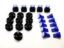 "15 Blue 4 LEDs Lights Bulbs 1/2"" Sockets Side Marker License Plate For Imports"