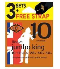 Rotosound Phosphor Bronze Acoustic Guitare Strings 3 Sets & Free Sangle JK10 10-50