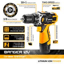 DEKO New Arrival Banger 12V 16V 20V Cordless Drill Electric Screwdriver Mini Wir