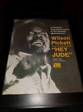 Wilson Pickett Hey Jude Rare Original Classic Promo Poster Ad Framed!