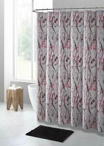 Gray Pink Gold Marble Design PEVA Shower Curtain Liner Odorless PVC Free