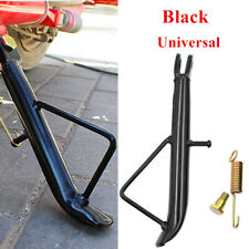 Black Iron Motorcycle Electric Scooter Kickstand Side Stand Leg Prop Durable
