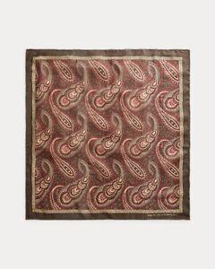 RRL RALPH LAUREN double rl Men's  bandana color Brown  Paisley silk