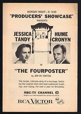 1955 NBC TV AD~JESSICA TANDY & HUME CRONYN in THE FOURPOSTERS by JAN DE HARTOG