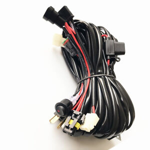 9005/H4 LED High Beam Wiring Loom Harness light bar 12V 40A Relay Switch kit