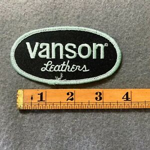 Vanson Leathers Light Green Embroidered Patch E2