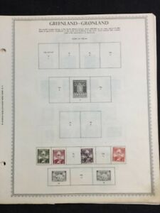 TCStamps -19x- Pages BEAUTIFUL! Very OLD Greenland Postage Stamps #292
